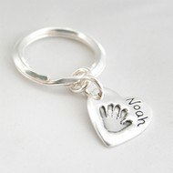 Hand Or Foot Print Large Keyring