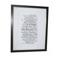 Large Word Art Frame