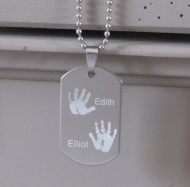 Stainless Steel Engraved Dog Tag Necklace