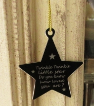 Star Decoration - Engraved