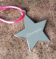 Engraved Name Star Decoration