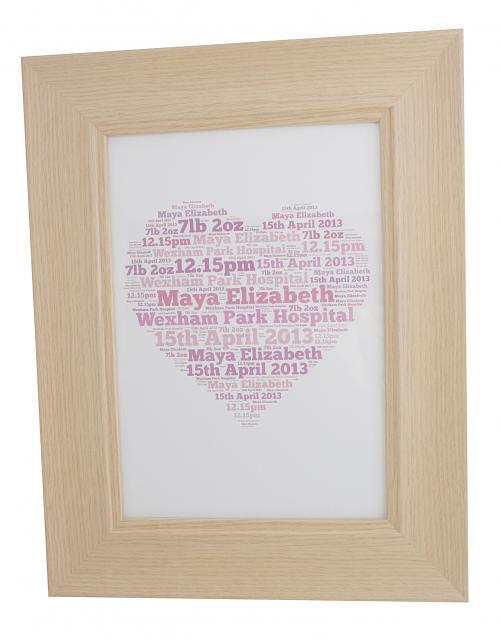 large word art frame