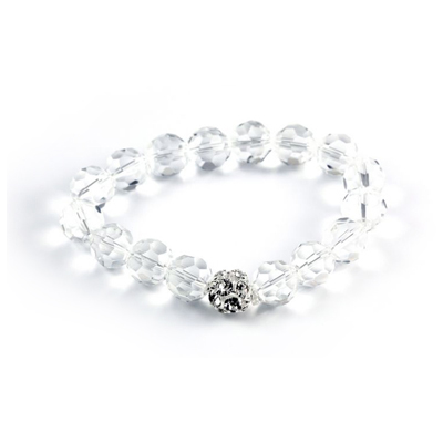 Clear Crystal Bracelet with fingerprint charm