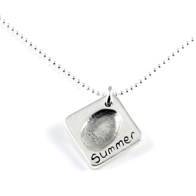 Individual Fingerprint Charm(s) Necklace