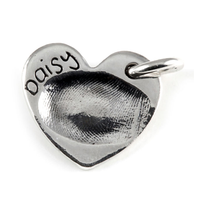 Small Heart Fingerprint Charm
