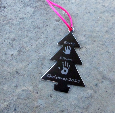 Hand Or Footprint Christmas Tree Decoration