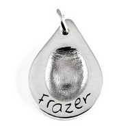 Large Teardrop Fingerprint Charm