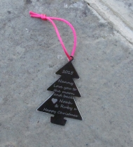 Christmas Tree Decoration - Engraved